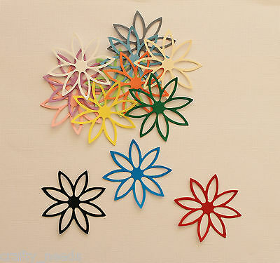 10PC - Wild Flower Paper Die Cuts  Embellishments  Scrapbooking