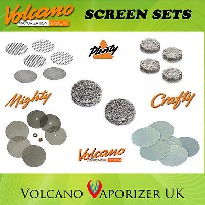 Screen Sets & Liquid Pads - Mighty, Crafty, Plenty, Solid & Easy Valve, Reducer