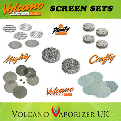 Screen Sets & Oil Pads - Volcano Vaporizer, Mighty, Crafty, Plenty, Solid & Easy