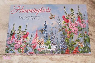 LEANIN TREE Hummingbirds 20 GREETING CARD ASSORTMENT #90633~All Blank Inside~