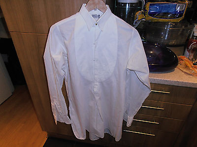 "Vtg  F P Baker & Co Ltd  Collarless Marcella Dress Shirt sz 14 "" Cw  Collar"