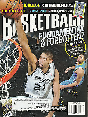 Beckett Basketball Card Price Guide July 2013 Surs Tim Duncan Cover