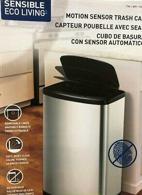 New Automatic 47L EKO Motion Sensor Stainless Steel Touchless Rubbish/Trash Bin