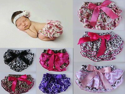 Baby Floral Bloomers Nappy Cover Girl Pants Diaper Newborn Girls Photo Prop