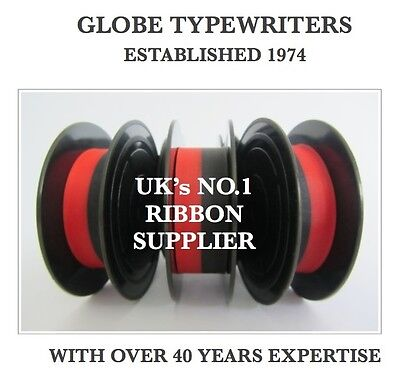 3 x 'OLYMPIA SM1' *BLACK/RED* TOP QUALITY *10 METRE* TYPEWRITER RIBBONS