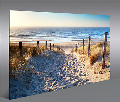 weg zum meer nordsee strand panorama format bild auf leinwand wandbild poster eur 29 90. Black Bedroom Furniture Sets. Home Design Ideas