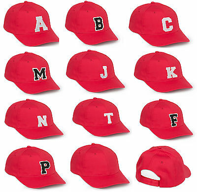 NEW BASEBALL CAP LETTER A-Z Alphabe HAT BEANIE TSHIRT SNAPBACK Adjustable Strap