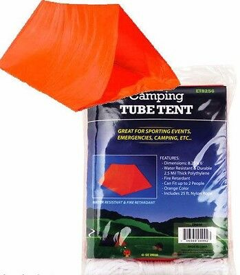 Emergency Survival Camping Shelter Tube Tent Waterproof Prepper
