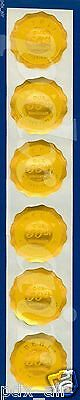 Six Small Iberia Our 50Th Anniversary 1927-1977 Gold Foil Stickers