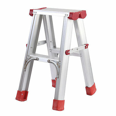 "2 Tier A Type Folding Step Ladder 24"" 41lb Home Fixing Portable Alluminum Tool"