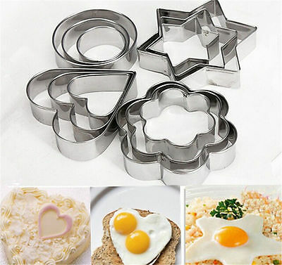 NEW Stainless Steel Cookie Biscuit Fondant Cake Paste Mold Cutter Decor Tool DIY