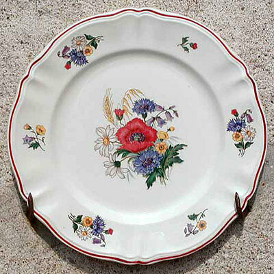 Grand Plat Service Faience Sarreguemines Agreste 34,7Cm Serving Platter