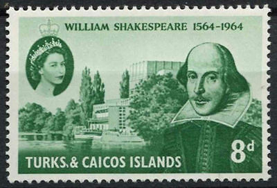 Turks & Caicos Is. 1964 SG#257 William Shakespeare MNH #A94871