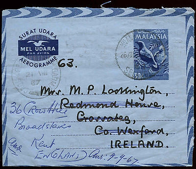 Malaysia 1982 Air Letter, Aerogramme Cover To England #C29695