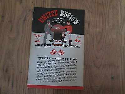 1956/7 MANCHESTER UNITED v REAL MADRID (EUROPEAN CUP)