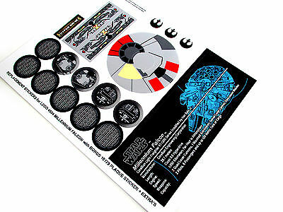 REPLACEMENT DIE CUT STICKERS for STAR WARS Lego 4504 MILLENNIUM FALCON + PLAQUE