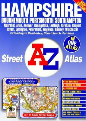 Hampshire Street Atlas by Geographers A-Z Map Company Spiral bound Book The