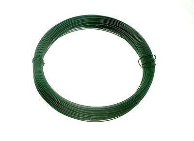 Qty Of 10 Roll Of Plastic Coated Garden Wire 0.75Mm X 30M 19A7