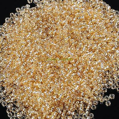 25grams 2mm Jewelry Findings Loose Czech Glass Rondelle Spacer Seed Beads Yellow