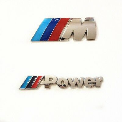 for BMW ///M+Power emblem M badge sticker car auto trunk metal decal M-Series