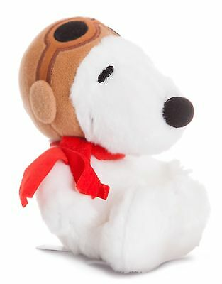 "PEANUTS - 7.5"" Snoopy Pilot Plush Cuddly Soft Toy Teddy by AURORA Charlie Brown"