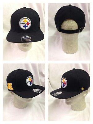 892f6428eab546 Pittsburgh Steelers Strapback 47 Brand Super Shot 47 Captain Hat Cap  Adjustable