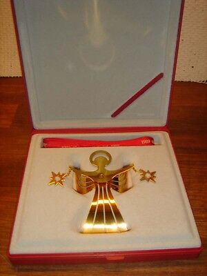 1989 Angel Bright CHRISTMAS MOBILE 24 carat gold plated GEORG JENSEN Orig box