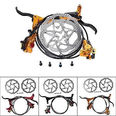 Brand HB-870 MTB Bike Bicycle Hydraulic 160mm Disc Brake Set w/2Pcs Rotors+Bolts