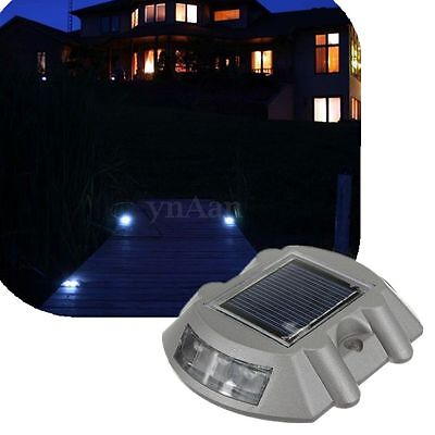 Waterproof Solar Power 6 LED Outdoor Road Path Security Ground Floor Step Lights