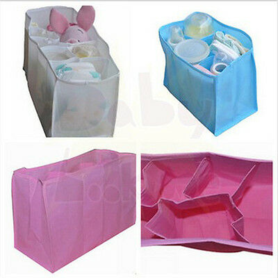 Portable Baby Diaper Nappy Water Bottle Cloth Food Changing Divider Storage Bags