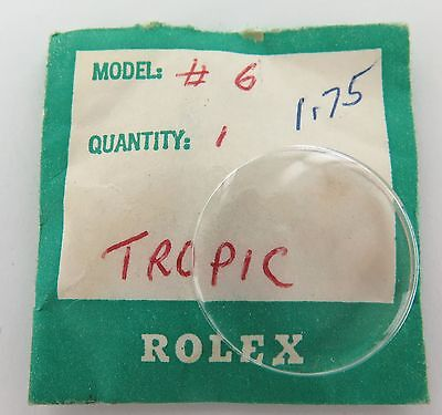 Vintage Rolex New Old Stock Tropic 6 Crystal. Suits 6220, 6221, 7910