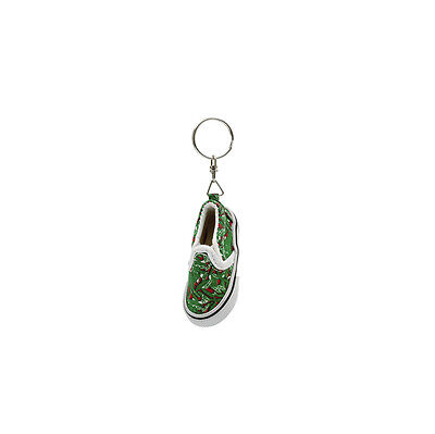 Green Canvas Shoe Keyring Gift Christmas Stocking Filler By Katz KR-22