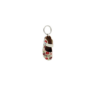 Girls Flower Canvas Shoe Keyring Gift Christmas Stocking Filler By Katz KR-23