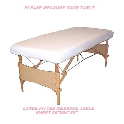 1 New Massage Table Fitted Sheet Large Muslin T130 36''x84''x9'' Measure Table