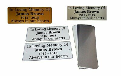 MEMORIAL FUNERAL PLAQUE Metal Aluminium Sign Plate Plaques Custom Personalised