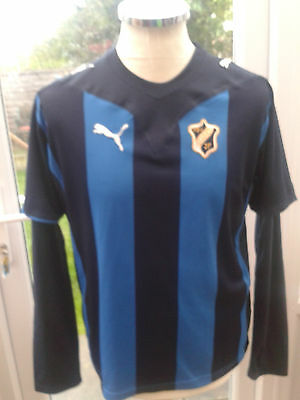 "Stabaek  FC  2009  long/short sleeved  home shirt    size 34/36"" adult"