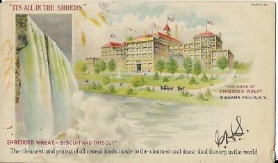 shredded wheat niagara fall ny postcard