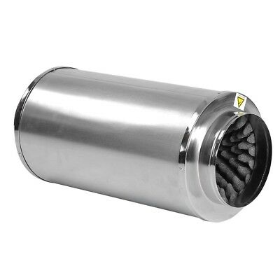 """8"""" Inch Inline Muffler Noise Reducer Silencer Duct Blower Fan Carbon Filter in."""