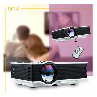 UNIC UC40 800 lumens LED Mini Projector Home Cinema Theater HDMI AV SD USB 1080P