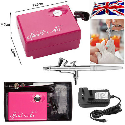 Pink SP16 Beauty Special Air Brush Compressor Suit Airbrushing Paints Art Kit