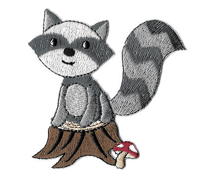 Raccoon - Bandit - Wild Animal - Forrest - Embroidered Iron On Applique Patch