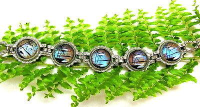 Pretty Vtg. Butterfly Wing Panel Bracelet