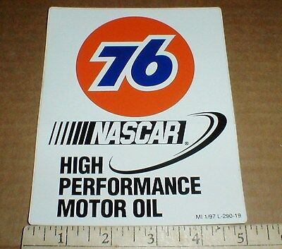 PAIR Union 76 High Perf Motor Oil NASCAR vintage racing decal Sticker New 1997