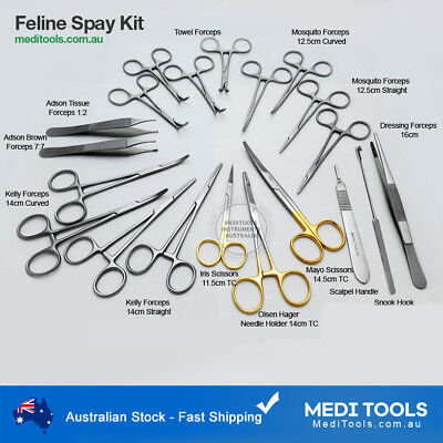 Feline Spay Kit, Cat, Surgery, Ovaries Removal, Small Animals, Premium Quality