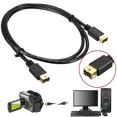 1M/3.3FT Fast Firewire IEEE1394 B 9Pin MaleTo 9 Pin Male DV 800 Cable Converter