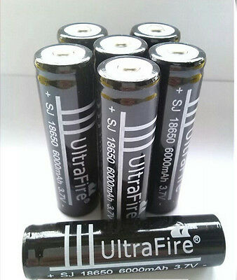 8x Ultrafire 3.7 volt Li-ion 18650 rechargeable battery MA