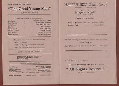 Great Yarmouth. Little Theatre. 'Good Young Man' Macgregor Urquhart.  s.245