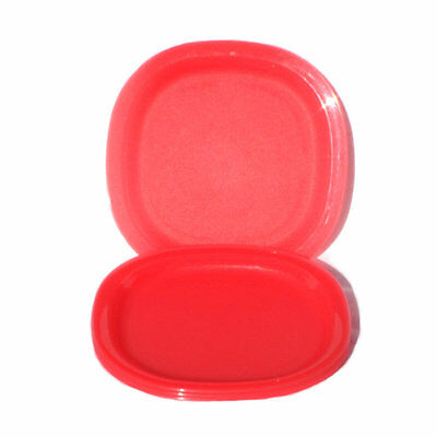 Tupperware Kids Small Microwave safe DESSERT Lunch PLATES x 4 Coral Pink NEW