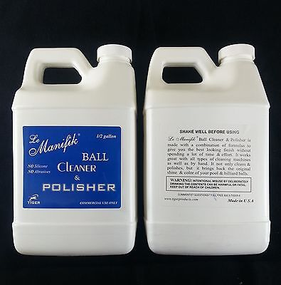 1 New Tiger Le Manifik Pool Ball Cleaner & Polisher 1/2 gallon commercial jug
