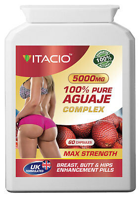 Bigger Breast & Buttocks And Hips Enlargement Pure Aguaje Complex 5000mg Pills